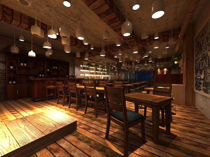 创意静吧餐桌区域装修设计案例效果图