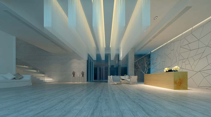 休闲类型主题餐厅酒吧前台楼梯装修设计案例效果图