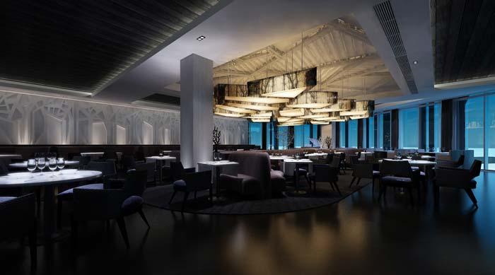 休闲类型主题餐厅酒吧大厅装修设计案例效果图