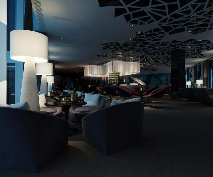 休闲类型主题餐厅吊顶装修设计案例效果图