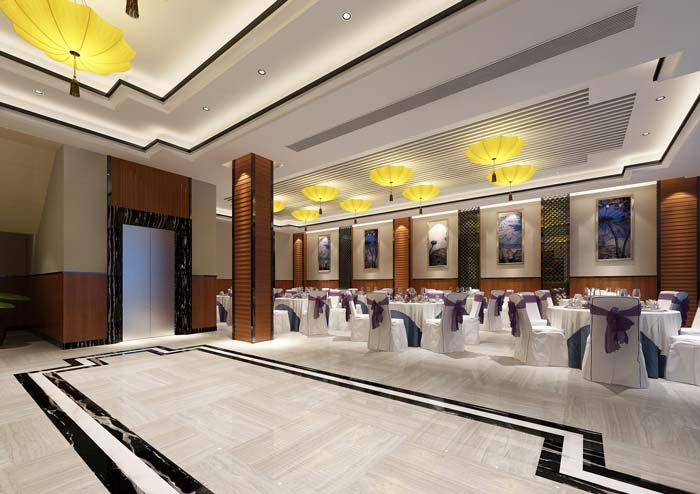 杭州客家酒楼大厅装修设计案例效果图