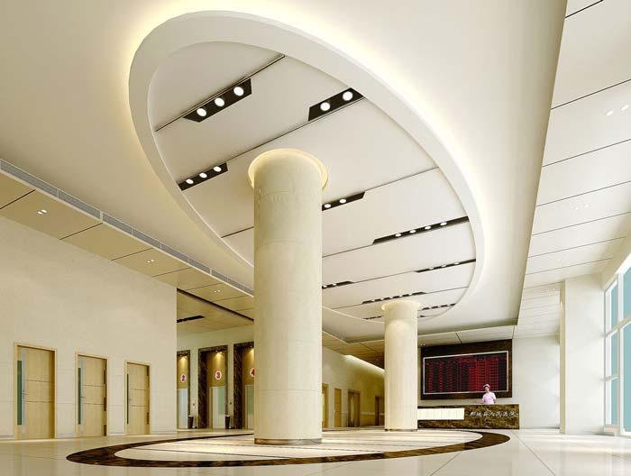 3000平米人民医院大堂装修设计案例效果图