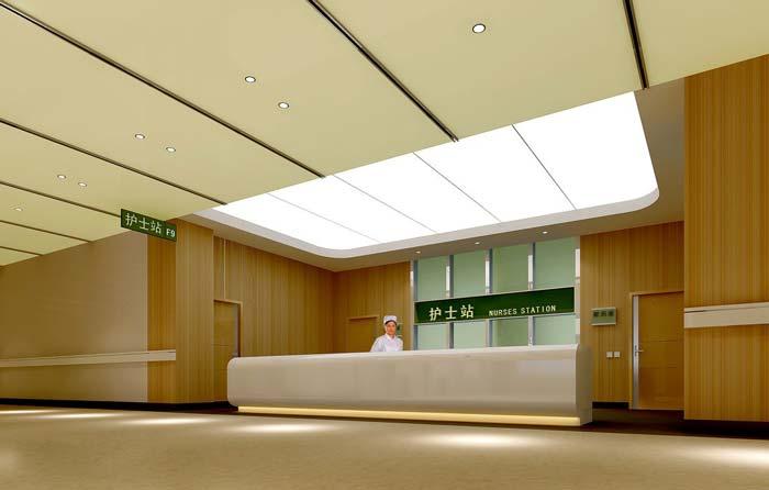 3000平米人民医院护士站装修设计案例效果图