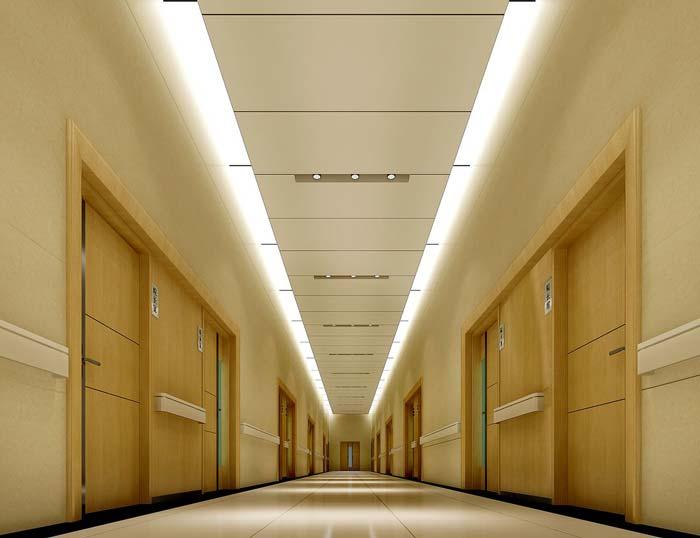 3000平米人民医院走廊装修设计案例效果图