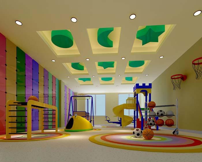3000平米人民医院小孩玩耍区域装修设计案例效果图