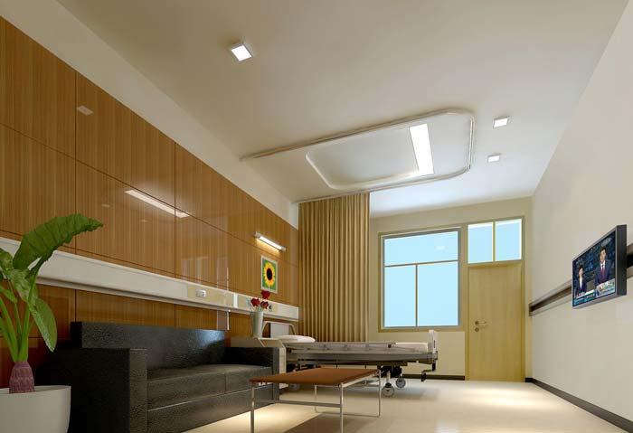 3000平米人民医院病房装修设计案例效果图