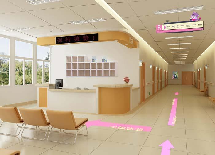 大庆市妇女儿童医院儿童保健装修设计案例效果图