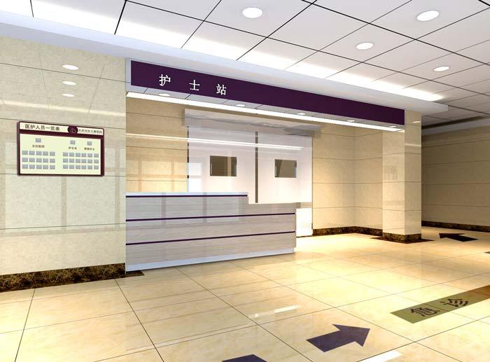 大庆市妇女儿童医院急诊通道装修设计案例效果图