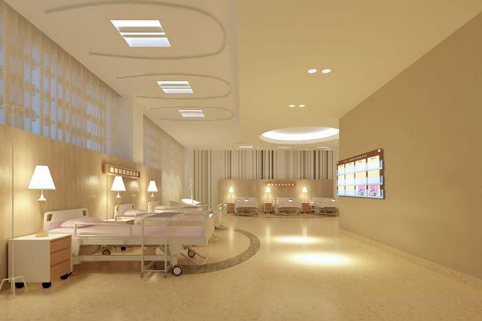 大庆市妇女儿童医院住院区域装修设计案例效果图
