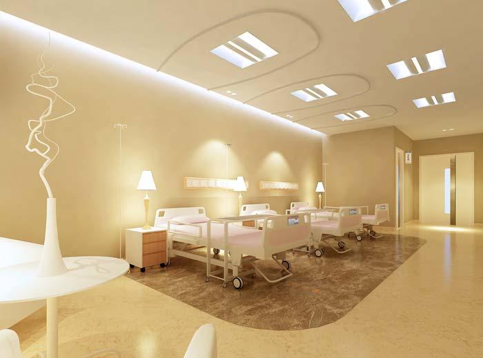 大庆市妇女儿童医院休养单元装修设计案例效果图