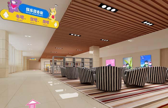 大庆市妇女儿童医院娱乐服务区域装修设计案例效果图