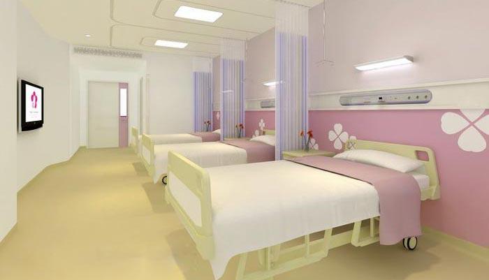 妇女儿童医院病房装修设计案例效果图