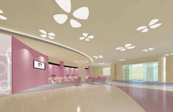妇女儿童医院大厅装修设计案例效果图