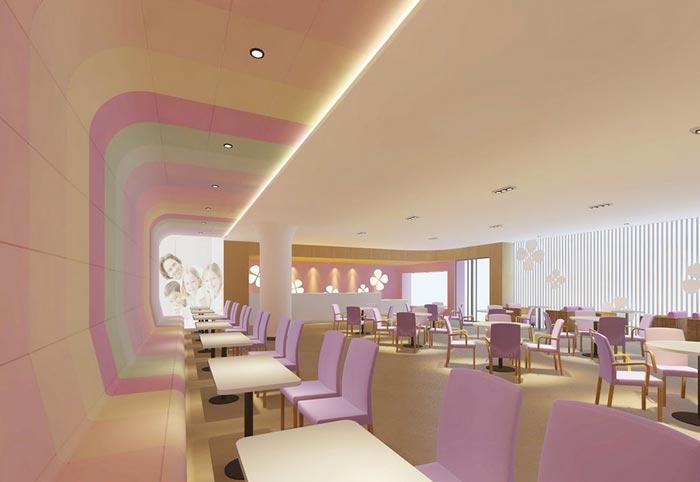 妇女儿童医院餐厅装修设计案例效果图