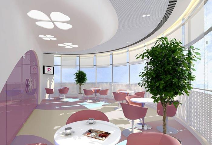 妇女儿童医院音乐候诊咖啡吧装修设计案例效果图