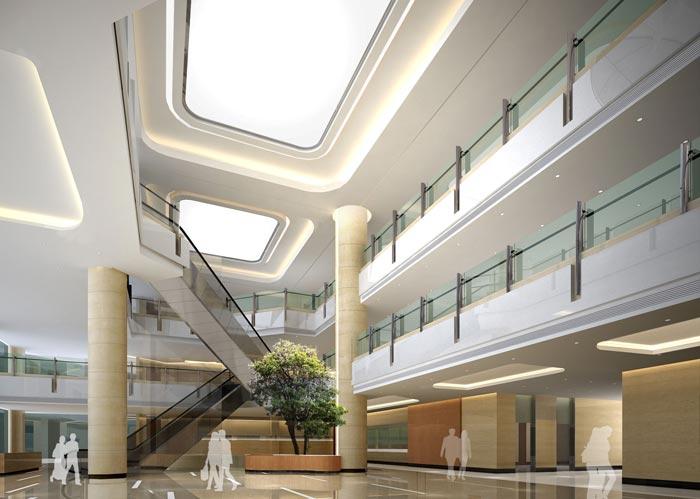人民医院室内大堂装修设计案例效果图