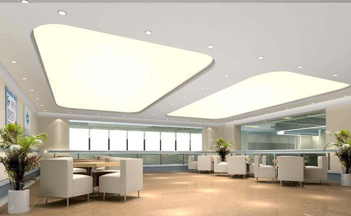 人民医院室内休息区域装修设计案例效果图