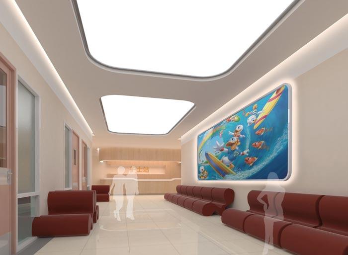 人民医院室内护士站装修设计案例效果图