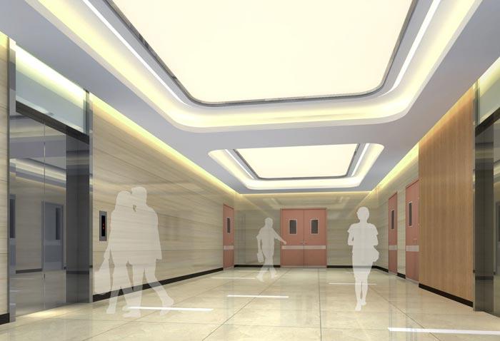 人民医院室内电梯区域装修设计案例效果图