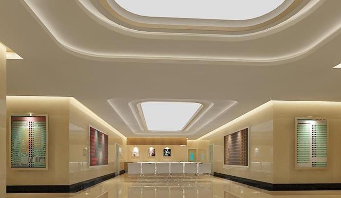 人民医院室内大厅装修设计案例效果图