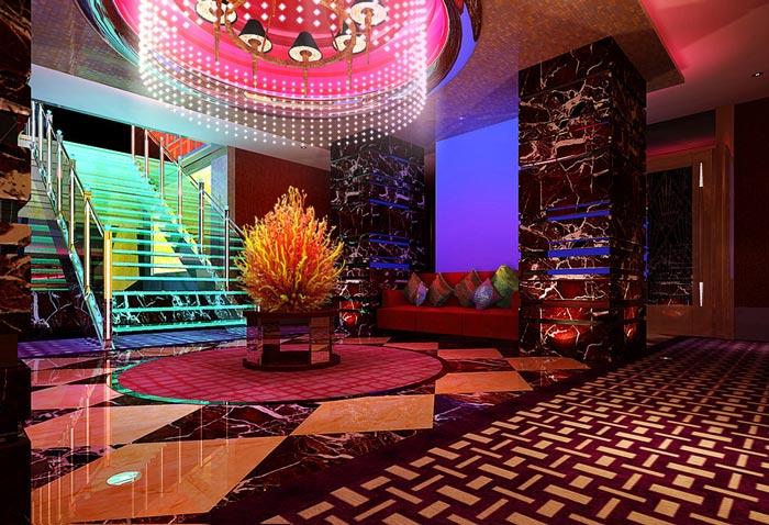 杭州KTV楼梯区域装修设计案例效果图
