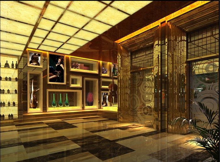 杭州KTV电梯区域装修设计案例效果图