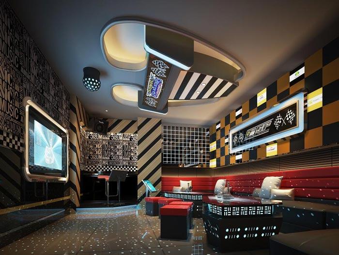 杭州KTV中包房装修设计案例效果图