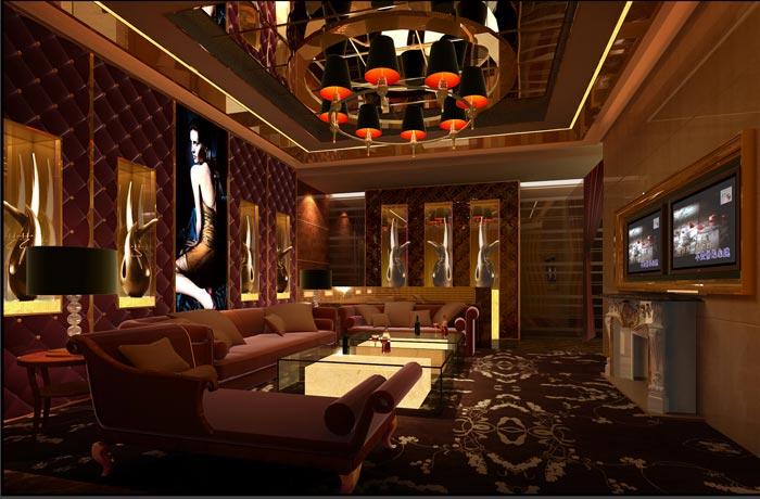 杭州ktv中小包房装修设计案例效果图