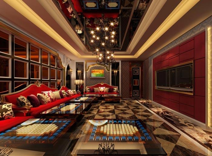杭州KTVvip包房装修设计案例效果图