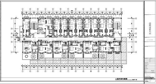 杭州精品酒店室内装饰工程深化设计二层平面布置图