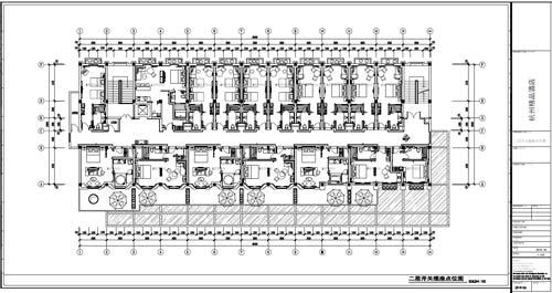 杭州精品酒店室内装饰工程深化设计二层开关插座点位图图