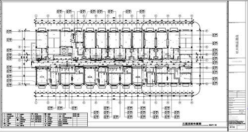 杭州精品酒店室内装饰工程深化设计三层顶面布置图