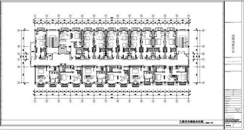 杭州精品酒店室内装饰工程深化设计三层开关插座点位图