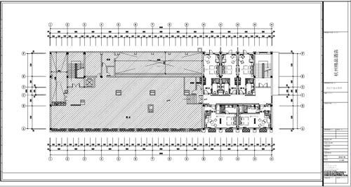 杭州精品酒店室内装饰工程深化设计四层平面布置图