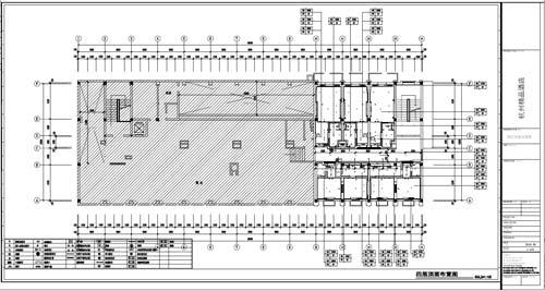 杭州精品酒店室内装饰工程深化设计四层顶面布置图