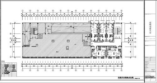 杭州精品酒店室内装饰工程深化设计四层开关插座点位图