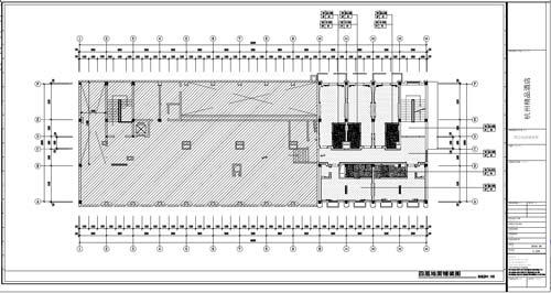 杭州精品酒店室内装饰工程深化设计四层地面铺装图
