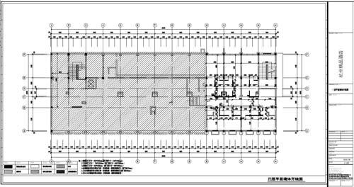 杭州精品酒店室内装饰工程深化设计四层平面墙体开线图