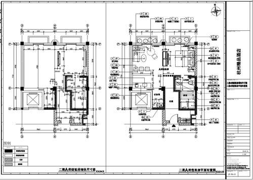 杭州精品酒店室内装饰工程深化设计二层类型客房平面布置图