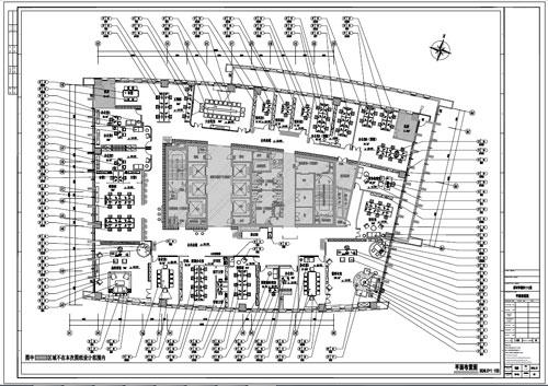 某写字楼四十七层室内装饰施工图施工图平面布置图