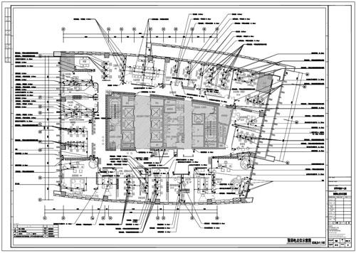 某写字楼四十七层室内装饰施工图施工图强弱电点位示意图