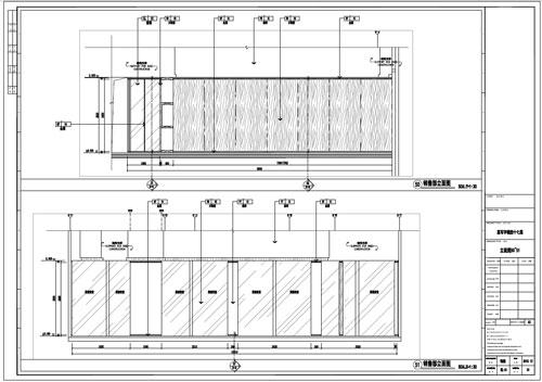 某写字楼室内深化设计装饰施工图销售部立面图50-51