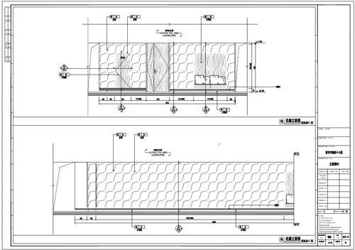 某写字楼室内深化设计装饰施工图走廊立面图90(一)
