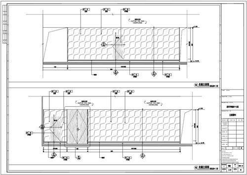 某写字楼室内深化设计装饰施工图走廊立面图90(三)