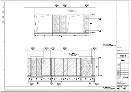 某写字楼室内深化设计装饰施工图走廊立面图91(一)