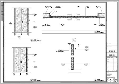 某写字楼室内深化设计装饰施工图门表图(一)