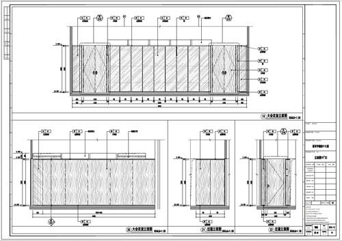 某写字楼室内深化设计装饰施工图大会议室立面图19-22