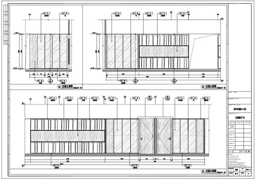 某写字楼室内深化设计装饰施工图过道立面图24-25