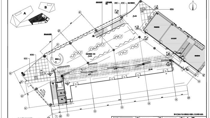 青少年活动中心施工图深化设计C区1层公共区域平面图