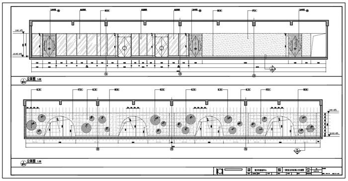 青少年活动中心施工图深化设计C区1层公共区域1/2立面图
